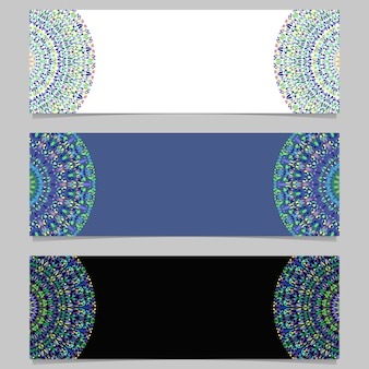 Геометрический горизонтальный абстрактный камень мандала баннер