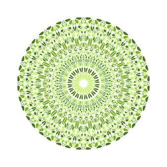 抽象的な丸いカラフルな円形の石飾りマンダラ