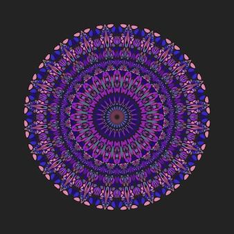 カラフルな幾何学的な抽象的な花飾りパターンマンダラアート