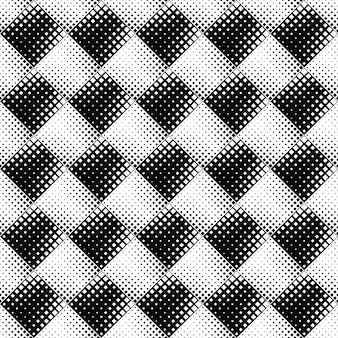 幾何学的な抽象的な白黒正方形パターン背景デザイン