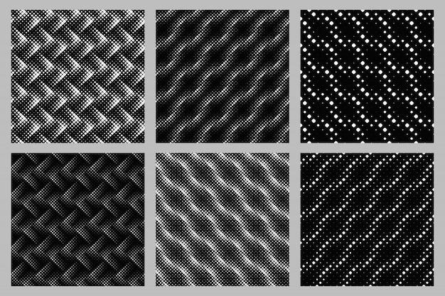シームレスな正方形パターン背景デザインセット