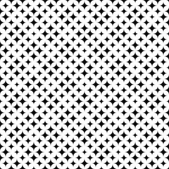 幾何学的なモノクロのシームレスな抽象的な星パターン背景