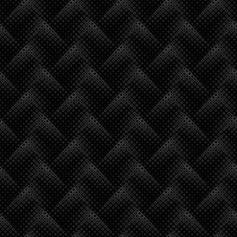 モノクロの幾何学的なシームレスな斜めの正方形のパターンの背景
