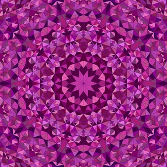 動的な多角形のラウンドモザイクマンダラ背景