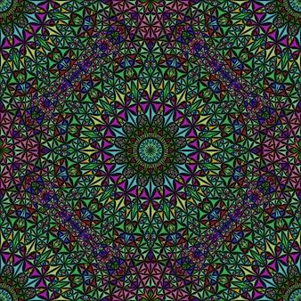 ボヘミアンのシームレスなパステル調の抽象的なマンダラパターン