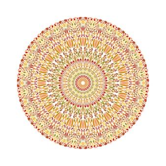 幾何学的な抽象的な円形のカラフルな花飾りマンダラ
