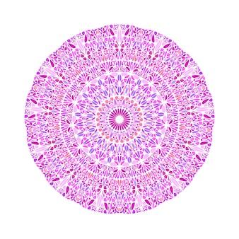 円形の抽象的な幾何学的なカラフルな植物パターンマンダラ