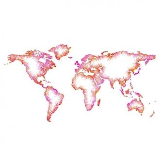 色とりどりの世界地図のデザイン