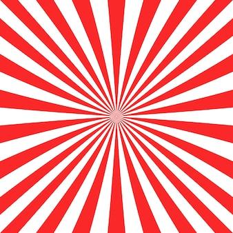 赤い太陽の背景のデザイン