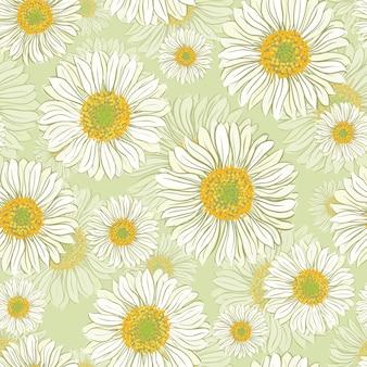 デイジーの花とのシームレスなパターン
