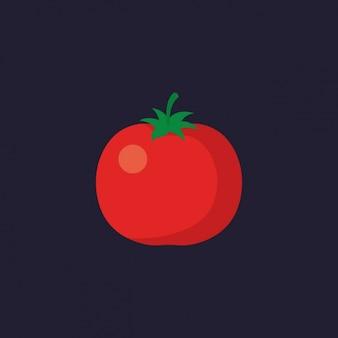 Цветное дизайн помидор