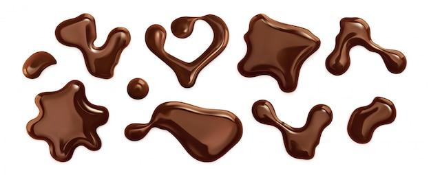 分離されたチョコレート