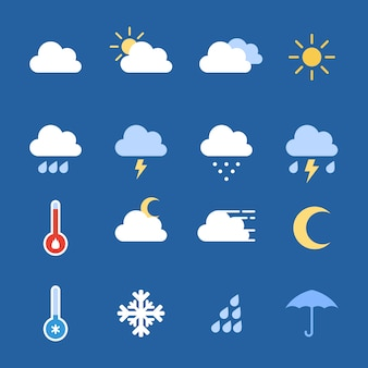 天気のアイコン集