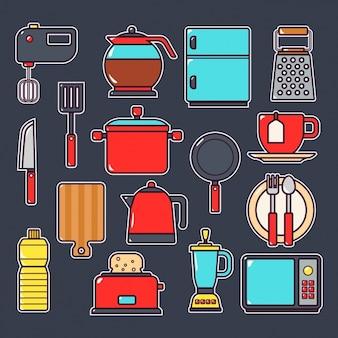 キッチン要素のコレクション