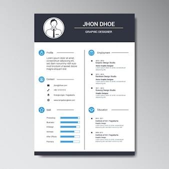グラフィックデザイナーの履歴書のテンプレート