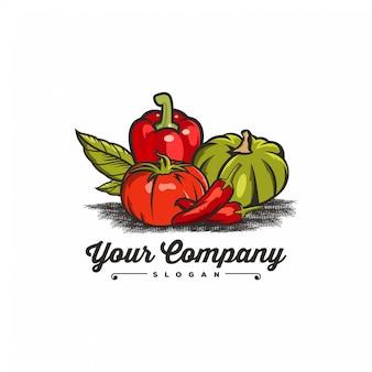 Цвет логотипа овощей