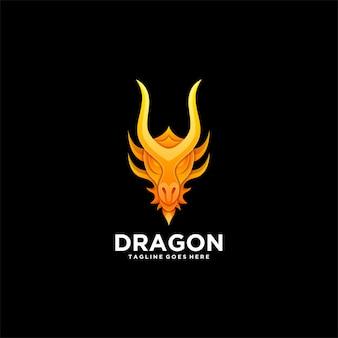 Логотип градиентная голова дракона