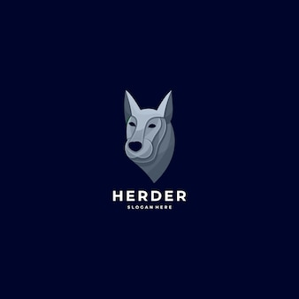 Логотип иллюстрация голова пастуха красочный стиль.