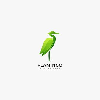 ロゴイラストフラミンゴのカラフルなスタイル。