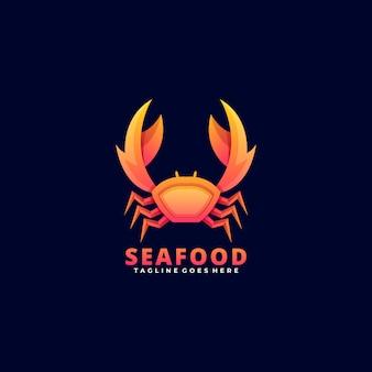 Логотип морепродукты градиент красочный стиль.