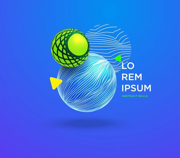 動的な抽象的なカラフルなボールの背景