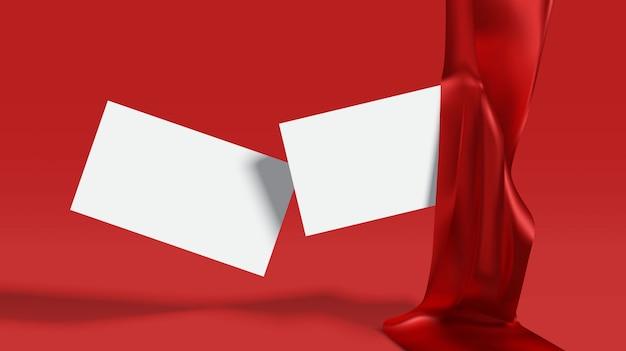 Красная роскошная визитная карточка