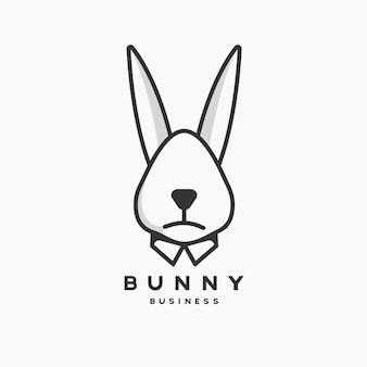 Кролик бизнес талисман логотип
