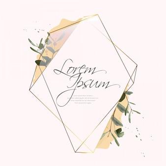 Золотая винтажная цветочная рамка