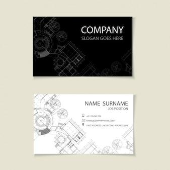 Дизайн шаблона визитная карточка