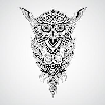 Геометрический фон совы