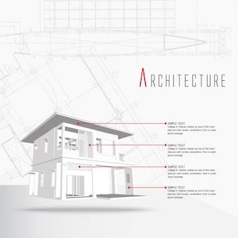 建築インフォグラフィックテンプレート