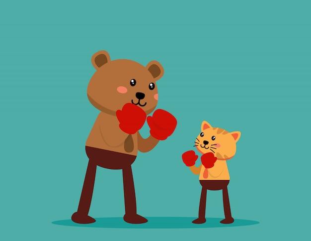 より大きなビジネスとの戦いでビジネス動物