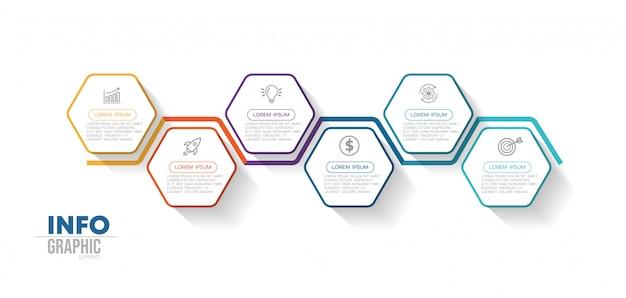 Инфографики элемент с иконками и варианты или шаги.