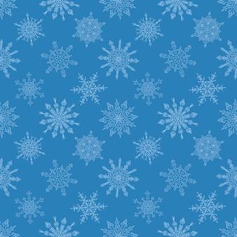 描かれた雪の青のパターン