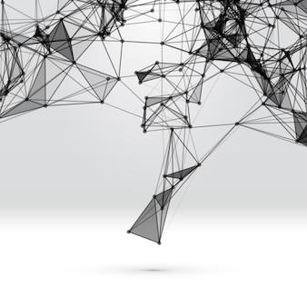 Абстрактный фон с пунктирной сеткой