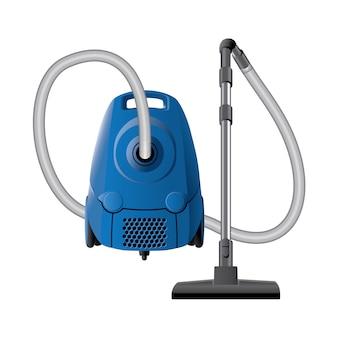 ホースとノブが付いた青いオリジナル掃除機