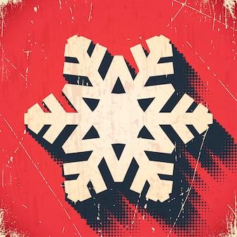 ハーフトーンシャドウと高齢者のクリスマススノーフレーク背景