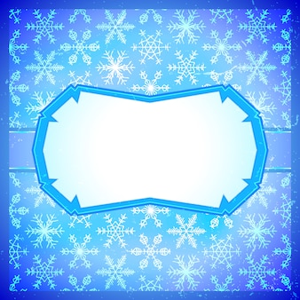 Замороженная рамка со снежинками