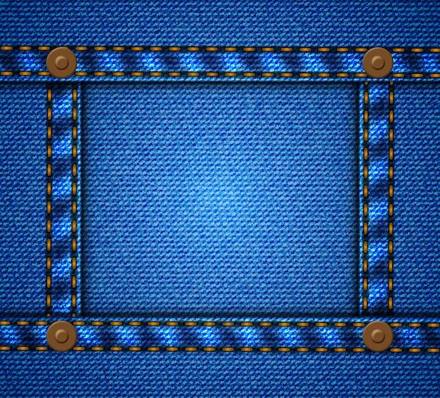Джинсовая рамка с пуговицами