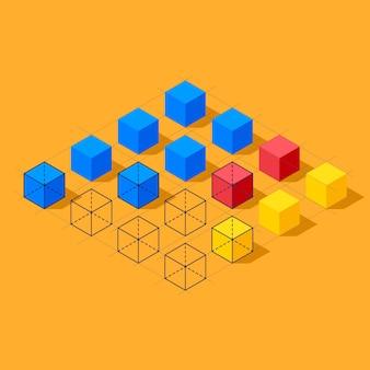 Инфографика с кубиками