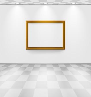 フレーム付きの白い部屋