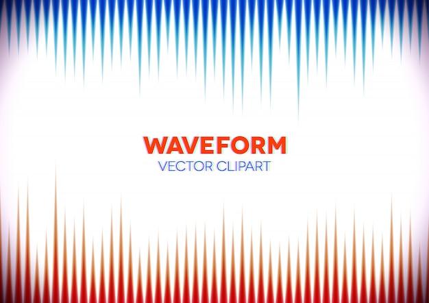 Ретро стиль фона со звуковыми волнами