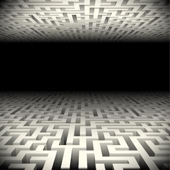 暗闇の中で抽象的な迷宮
