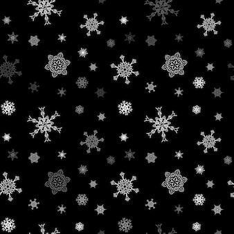 Рождественская снежинка бесшовные модели с черепичной падения снега