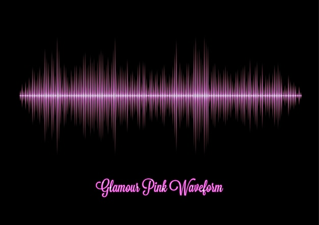 ピンクの魅力の音楽波形