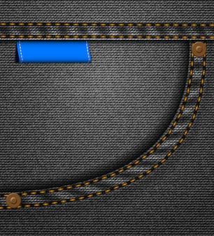 Черный джинсовый карман