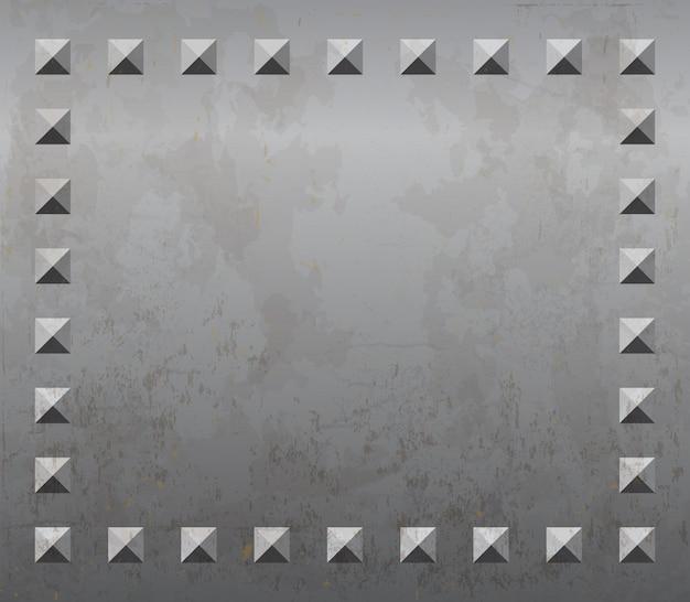 Металлический фон с заклепками