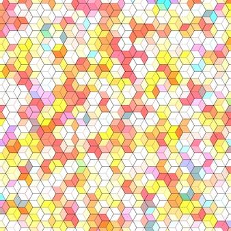 カラフルな六角形ポリゴンと抽象的な背景