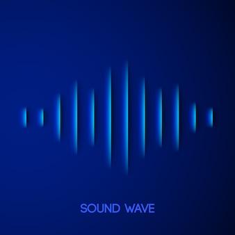 Бумага звуковая форма волны с тенью