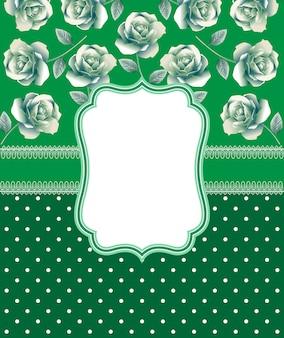花のベクトル結婚式のテンプレート